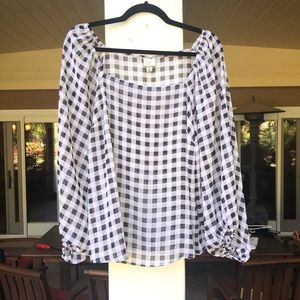 Billowy Gingham Top